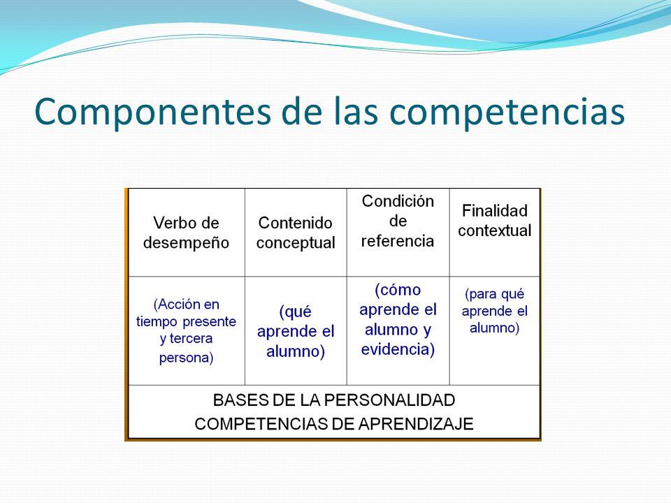 Componentes de las competencias
