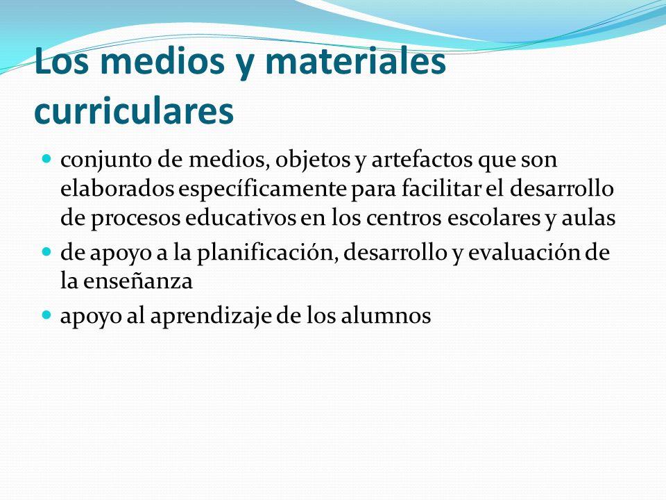 Los medios y materiales curriculares