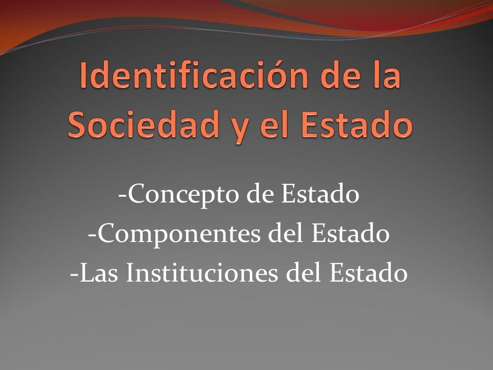 Identificación de la Sociedad y el Estado