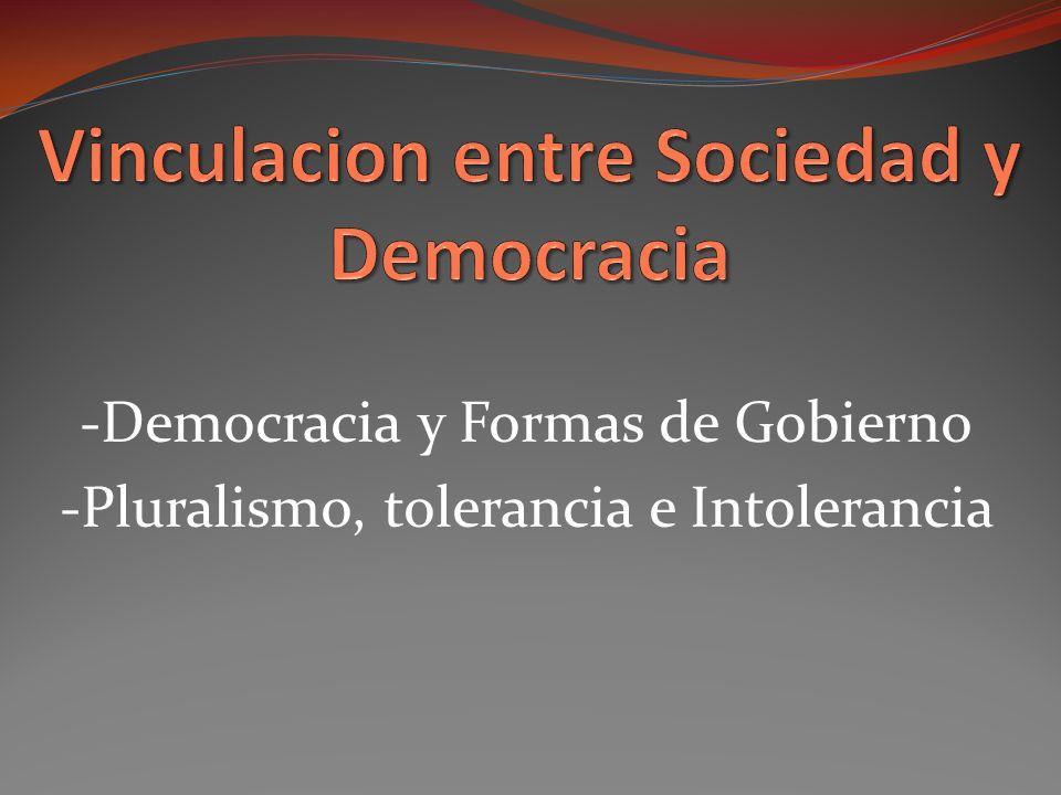 Vinculacion entre Sociedad y Democracia