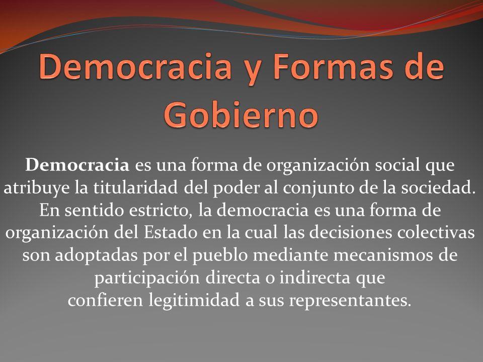 Democracia y Formas de Gobierno