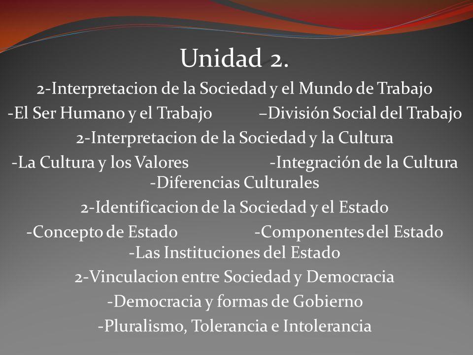 Unidad 2. 2-Interpretacion de la Sociedad y el Mundo de Trabajo