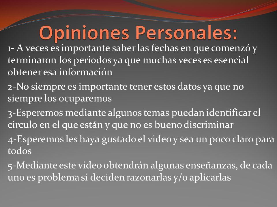 Opiniones Personales: