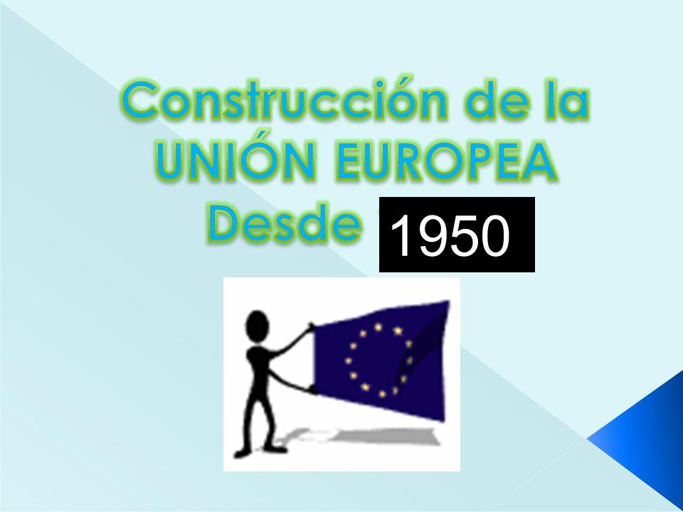 Construcción de la UNIÓN EUROPEA Desde 1915. 1950