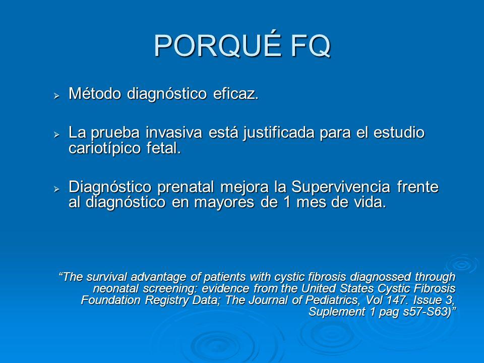 PORQUÉ FQ Método diagnóstico eficaz.