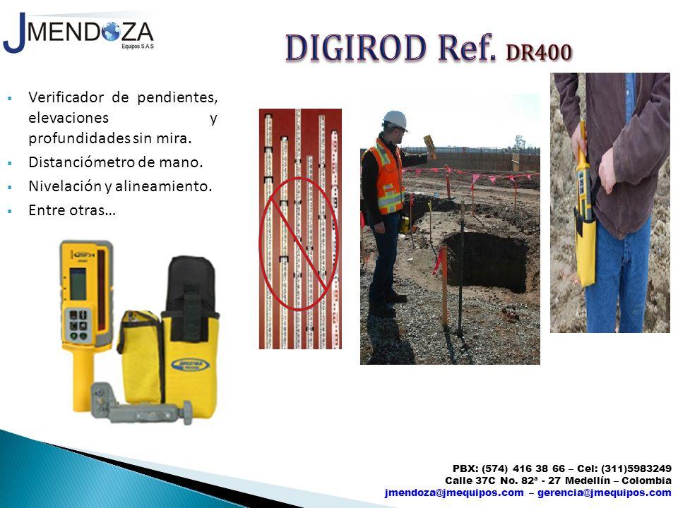 DIGIROD Ref. DR400 Verificador de pendientes, elevaciones y profundidades sin mira. Distanciómetro de mano.