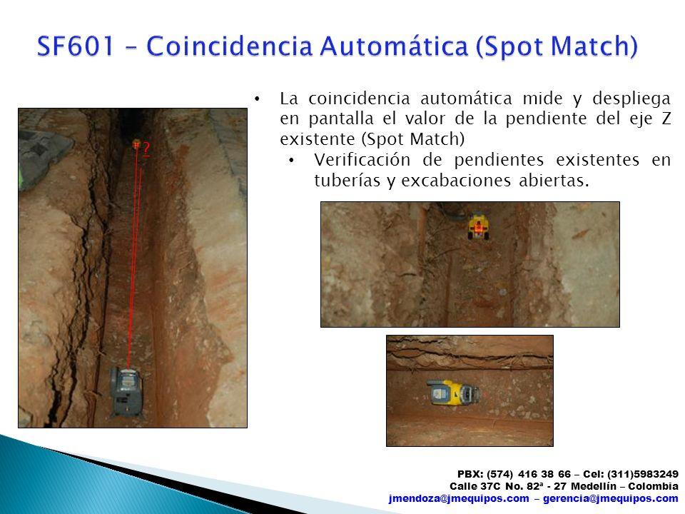 SF601 – Coincidencia Automática (Spot Match)