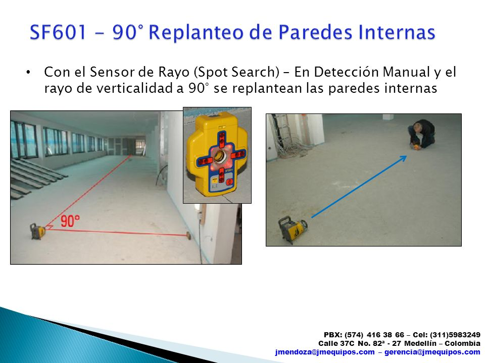 SF601 - 90° Replanteo de Paredes Internas