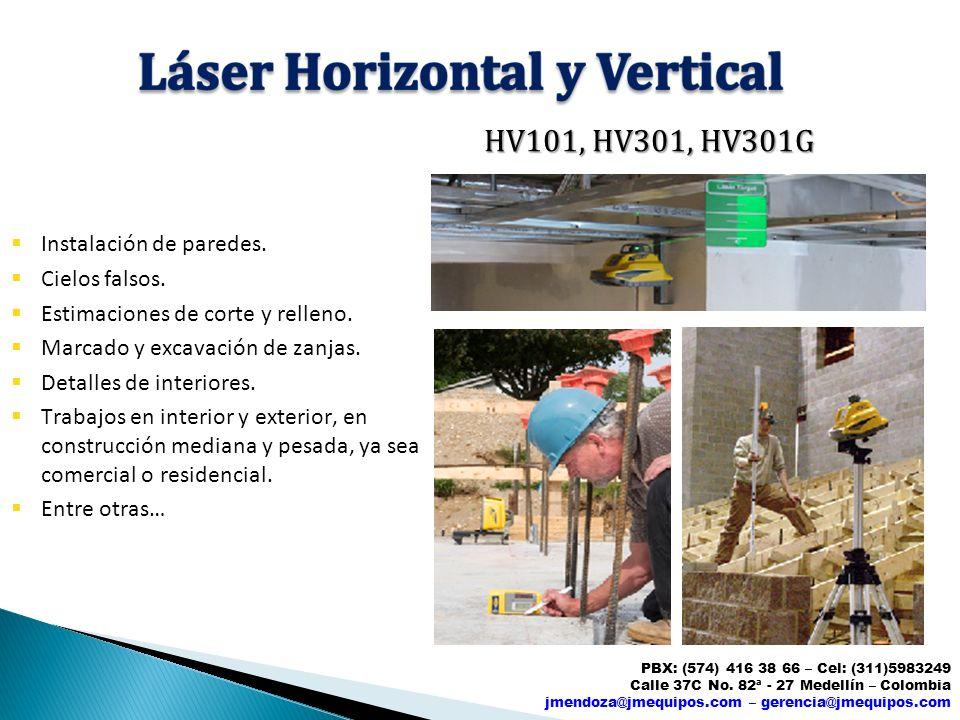 HV101, HV301, HV301G Instalación de paredes. Cielos falsos.