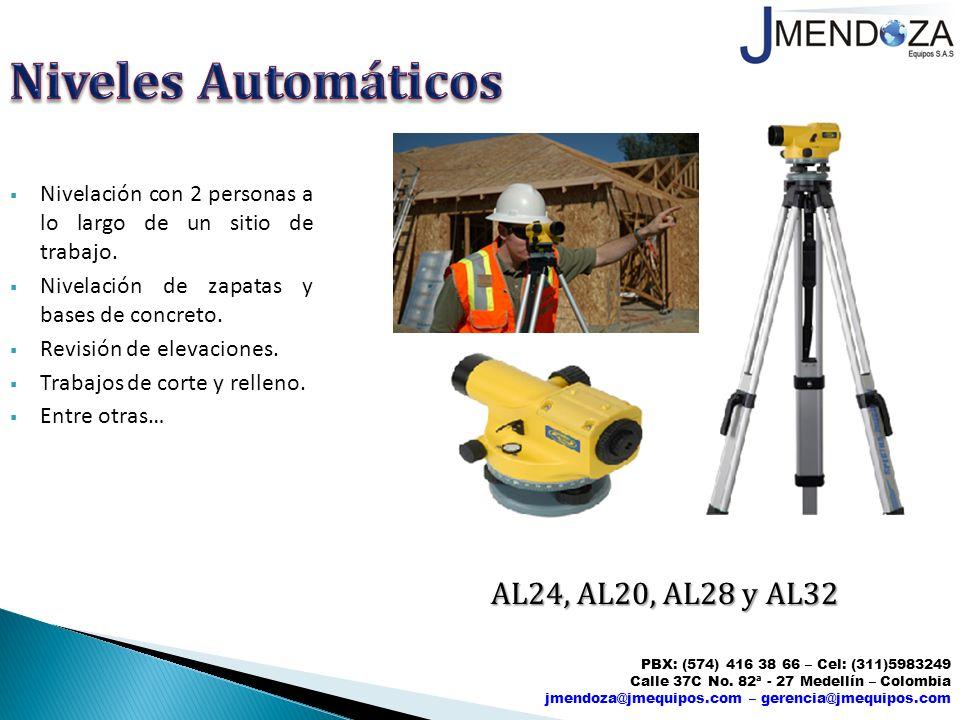 Niveles Automáticos AL24, AL20, AL28 y AL32