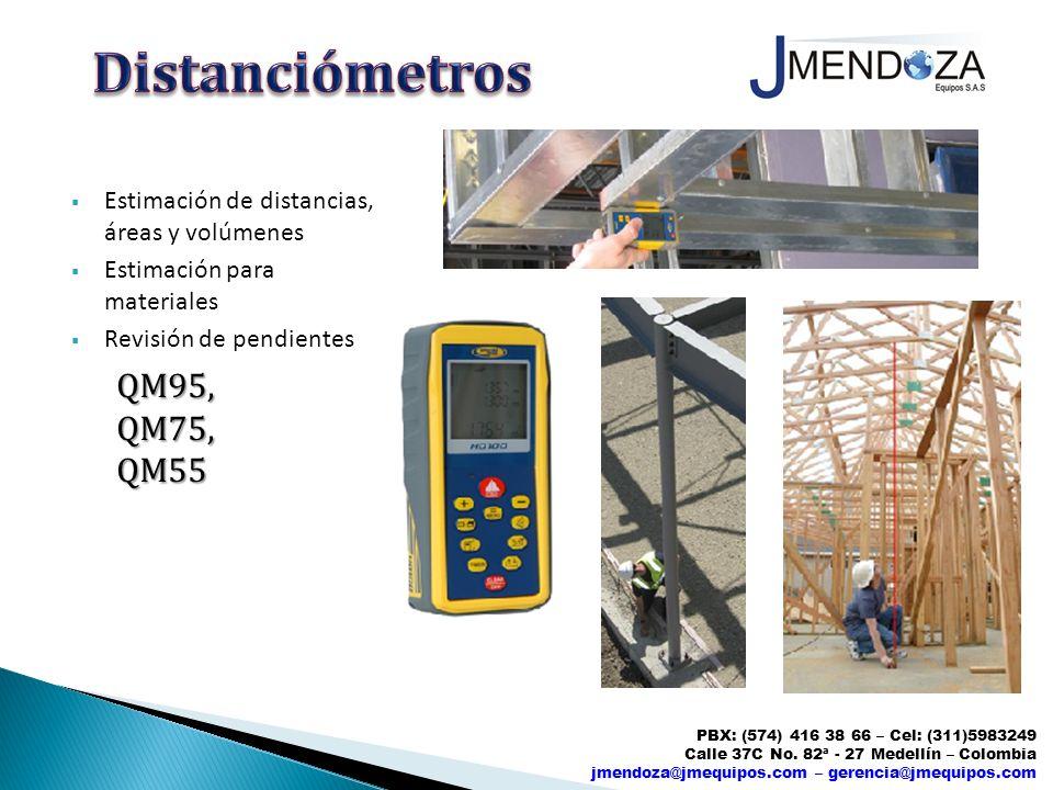 Distanciómetros QM95, QM75, QM55