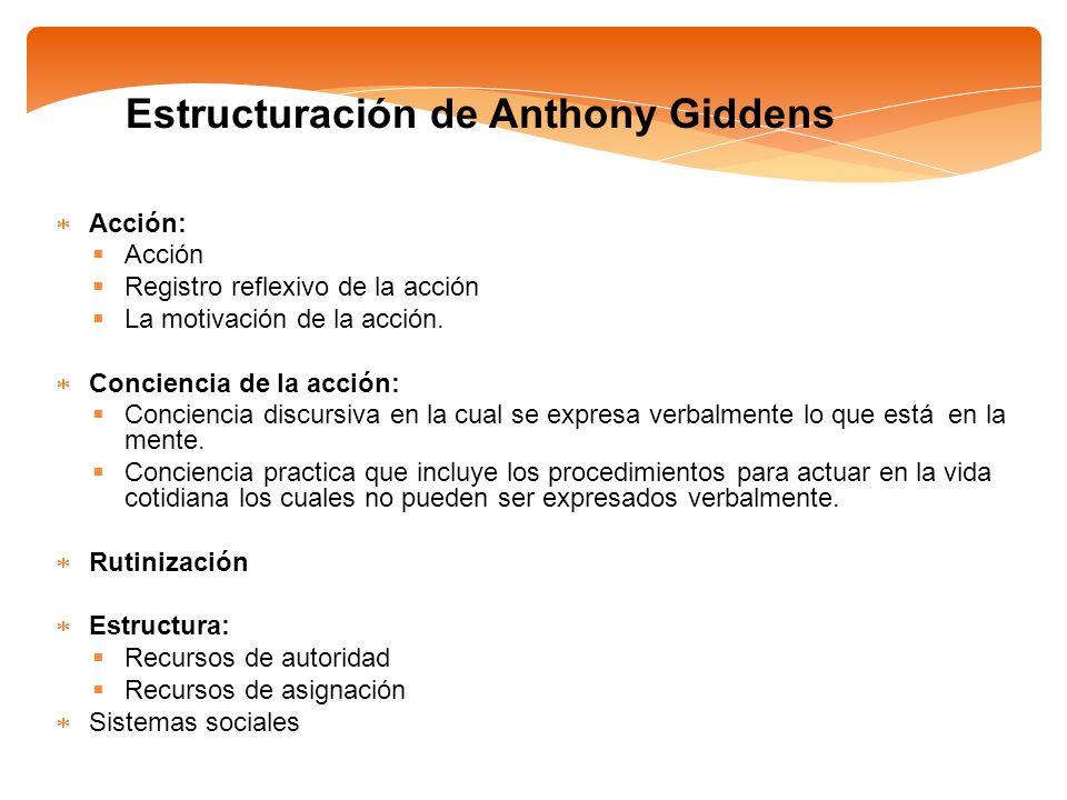 Estructuración de Anthony Giddens