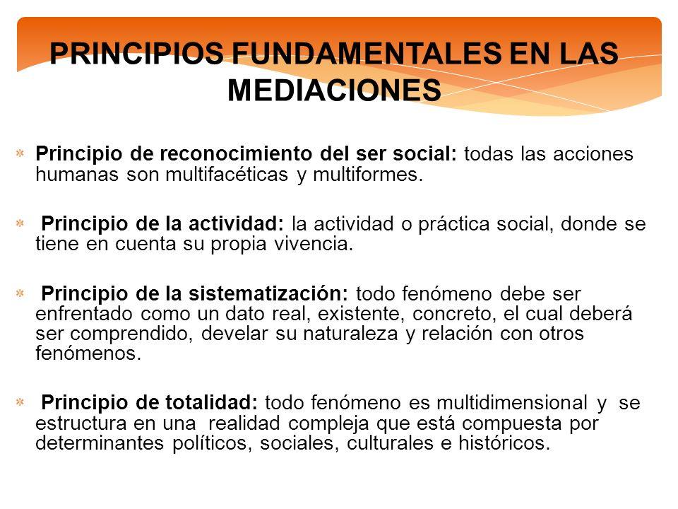 PRINCIPIOS FUNDAMENTALES EN LAS MEDIACIONES