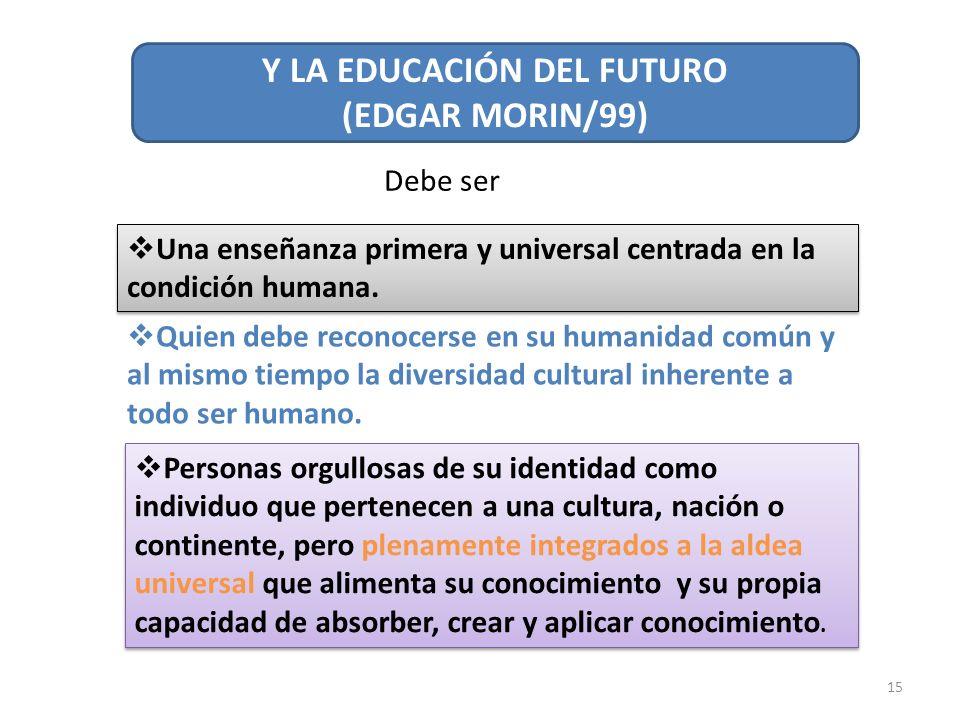 Y LA EDUCACIÓN DEL FUTURO