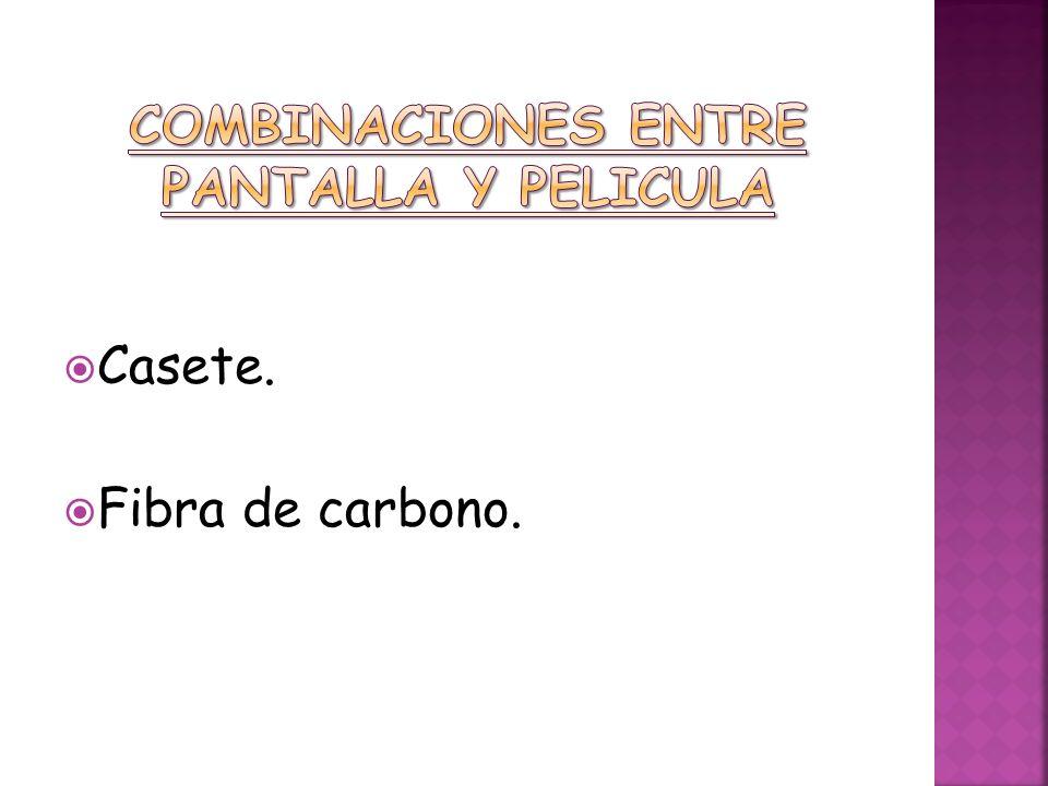 COMBINACIONES ENTRE PANTALLA Y PELICULA