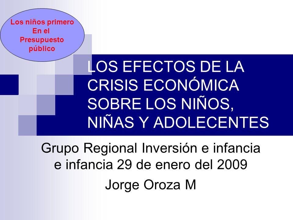 Grupo Regional Inversión e infancia e infancia 29 de enero del 2009