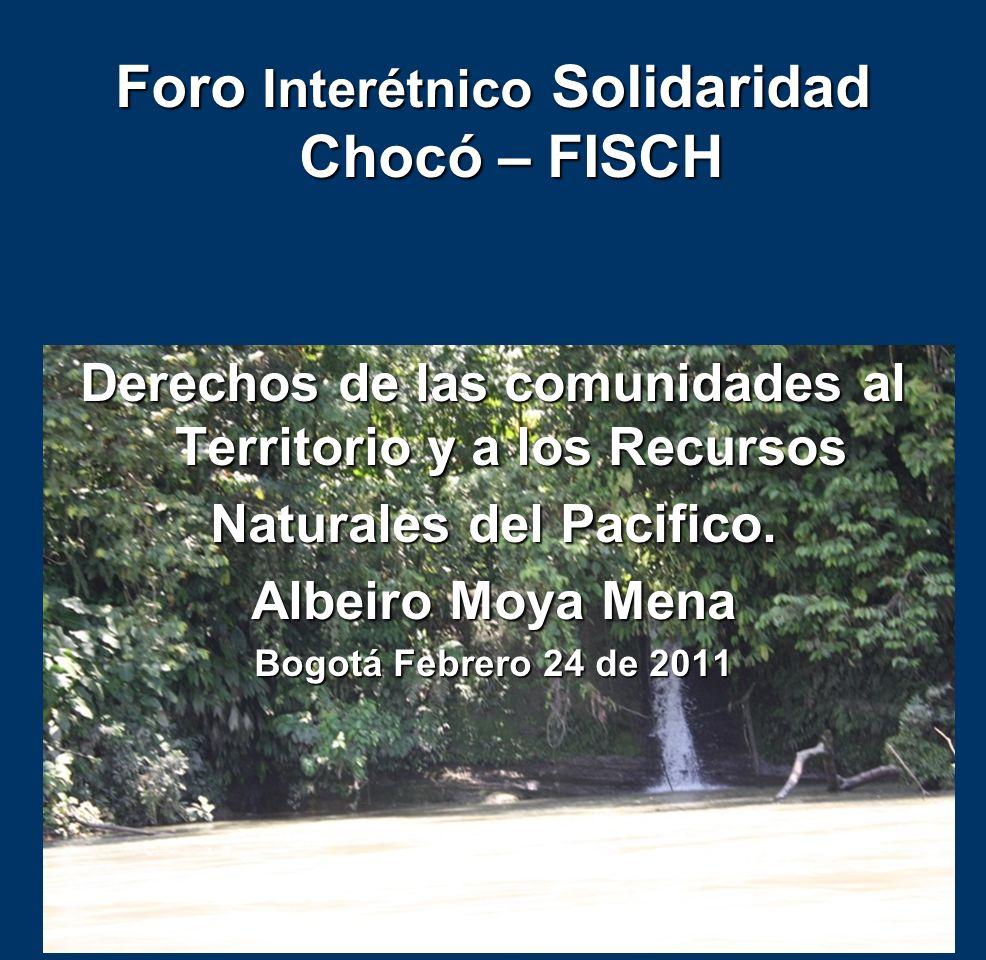 Foro Interétnico Solidaridad Chocó – FISCH