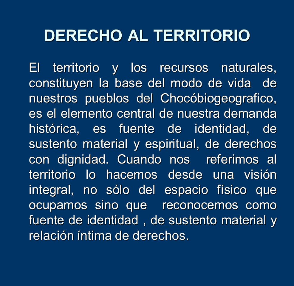 DERECHO AL TERRITORIO