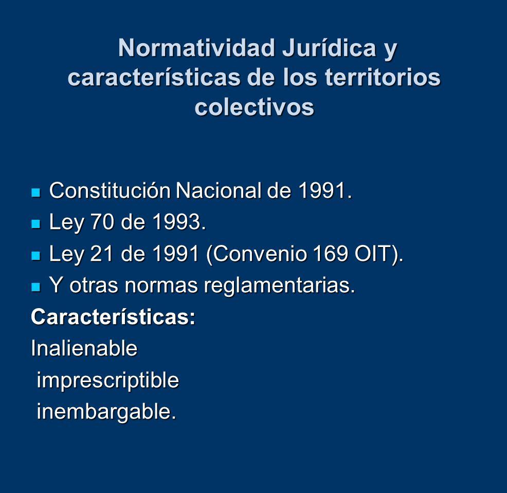 Normatividad Jurídica y características de los territorios colectivos