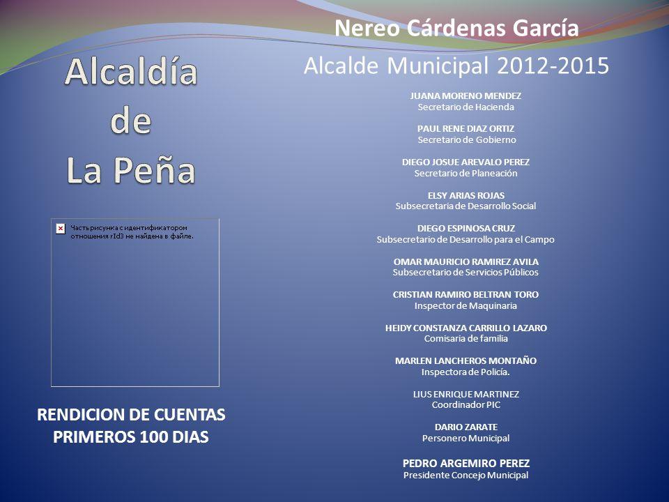 Nereo Cárdenas García Alcalde Municipal 2012-2015