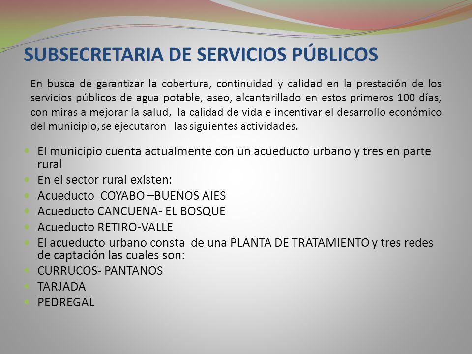 SUBSECRETARIA DE SERVICIOS PÚBLICOS