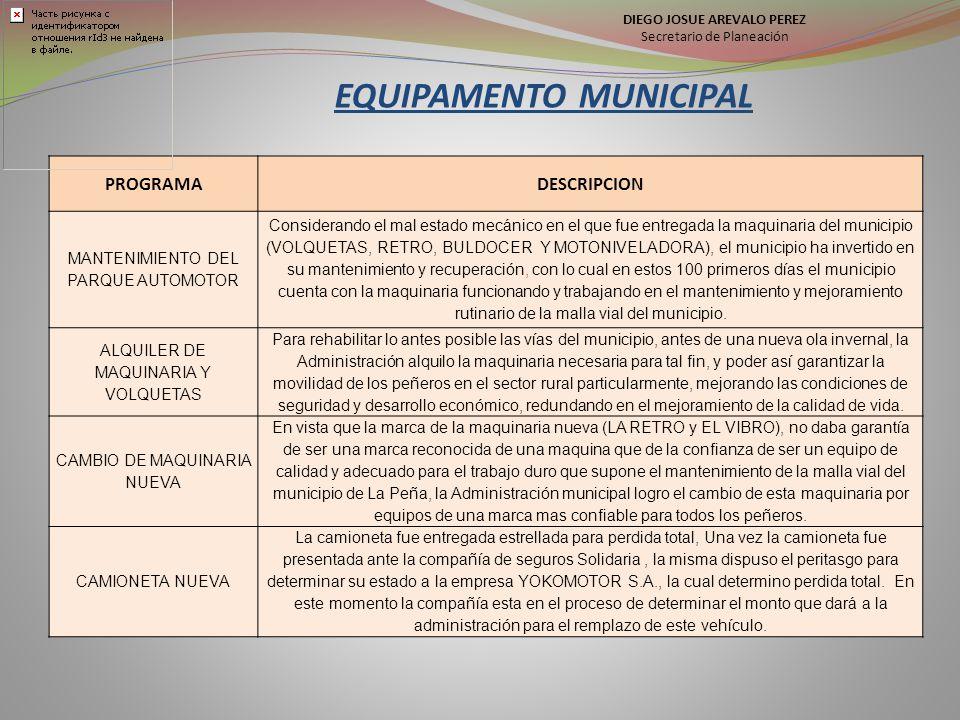 EQUIPAMENTO MUNICIPAL