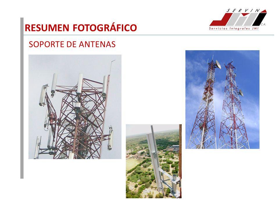 RESUMEN FOTOGRÁFICO SOPORTE DE ANTENAS