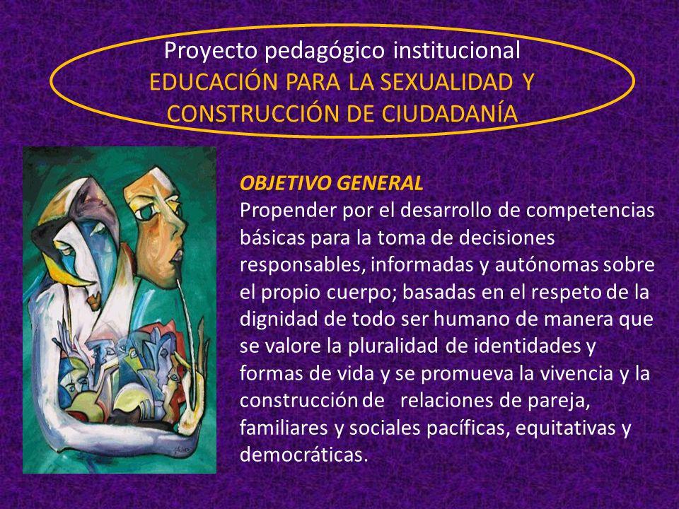 Proyecto pedagógico institucional EDUCACIÓN PARA LA SEXUALIDAD Y CONSTRUCCIÓN DE CIUDADANÍA