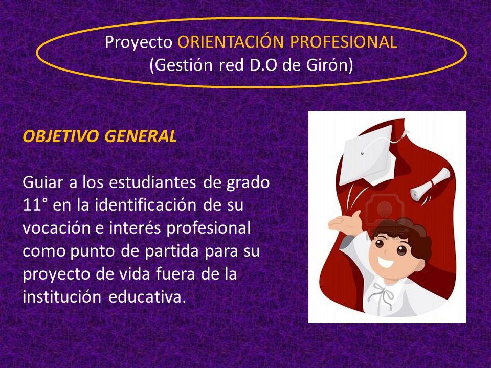 Proyecto ORIENTACIÓN PROFESIONAL (Gestión red D.O de Girón)