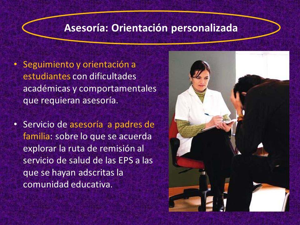 Asesoría: Orientación personalizada