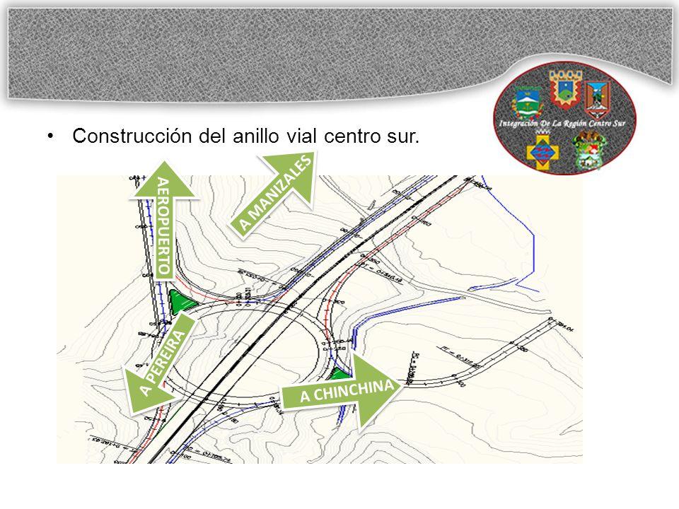 Construcción del anillo vial centro sur.