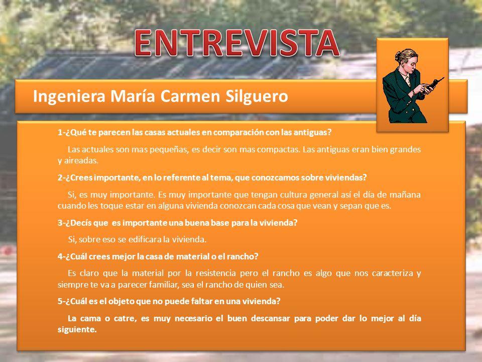 ENTREVISTA Ingeniera María Carmen Silguero
