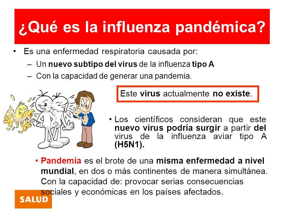 ¿Qué es la influenza pandémica