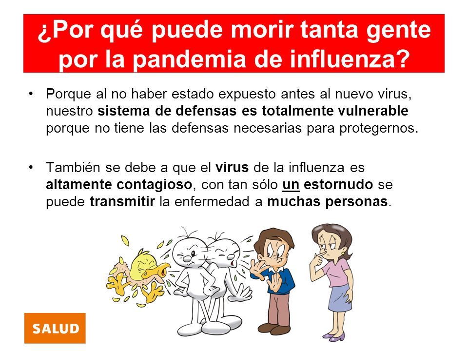 ¿Por qué puede morir tanta gente por la pandemia de influenza