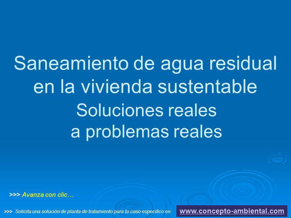 Saneamiento de agua residual en la vivienda sustentable