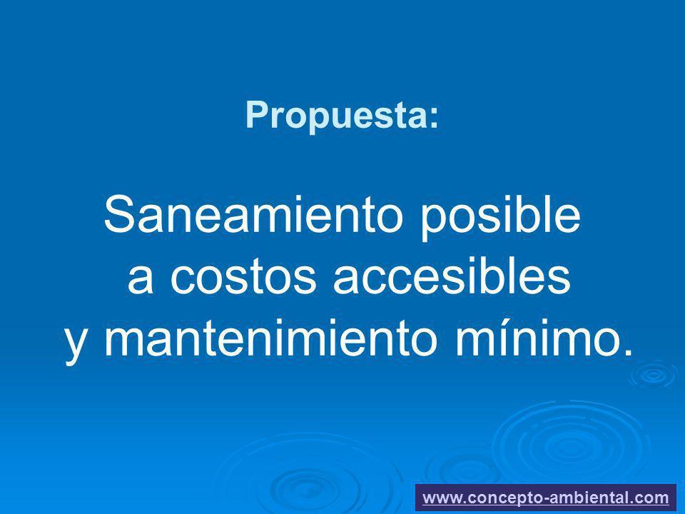 1919 Propuesta: Saneamiento posible a costos accesibles y mantenimiento mínimo.
