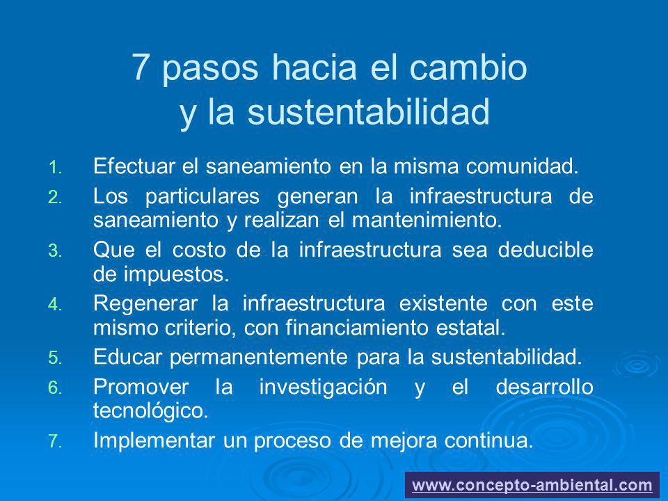 7 pasos hacia el cambio y la sustentabilidad