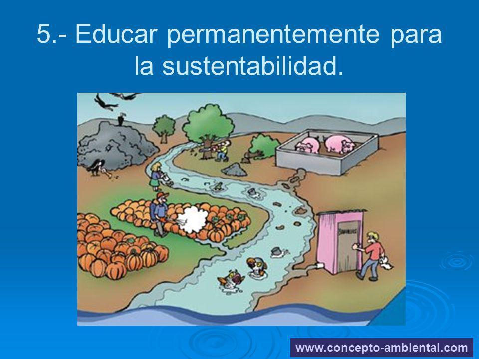 5.- Educar permanentemente para la sustentabilidad.