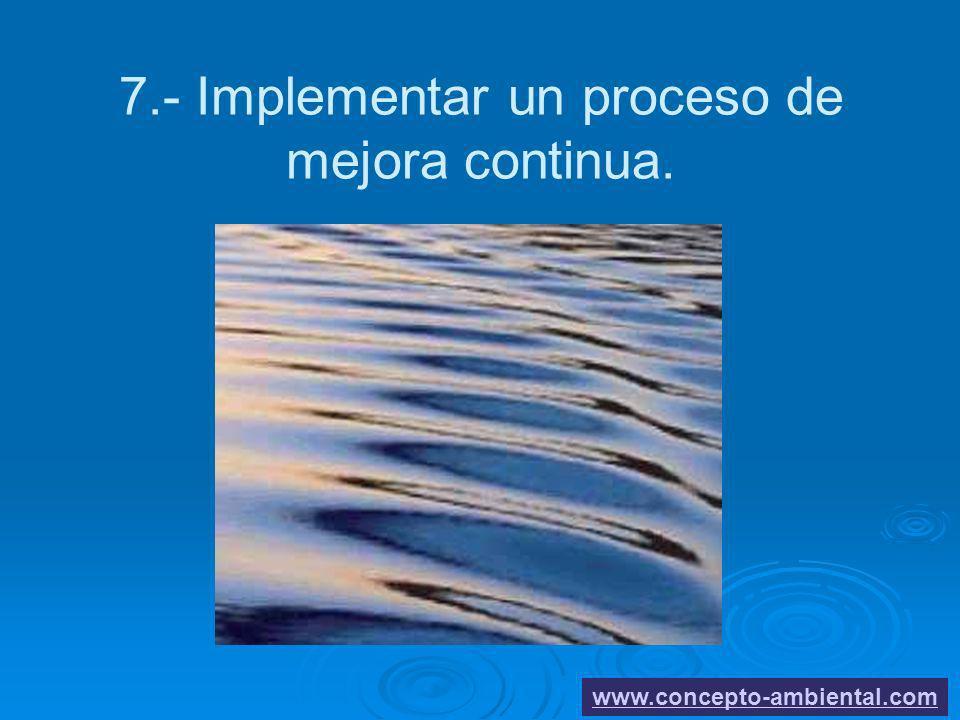 7.- Implementar un proceso de mejora continua.