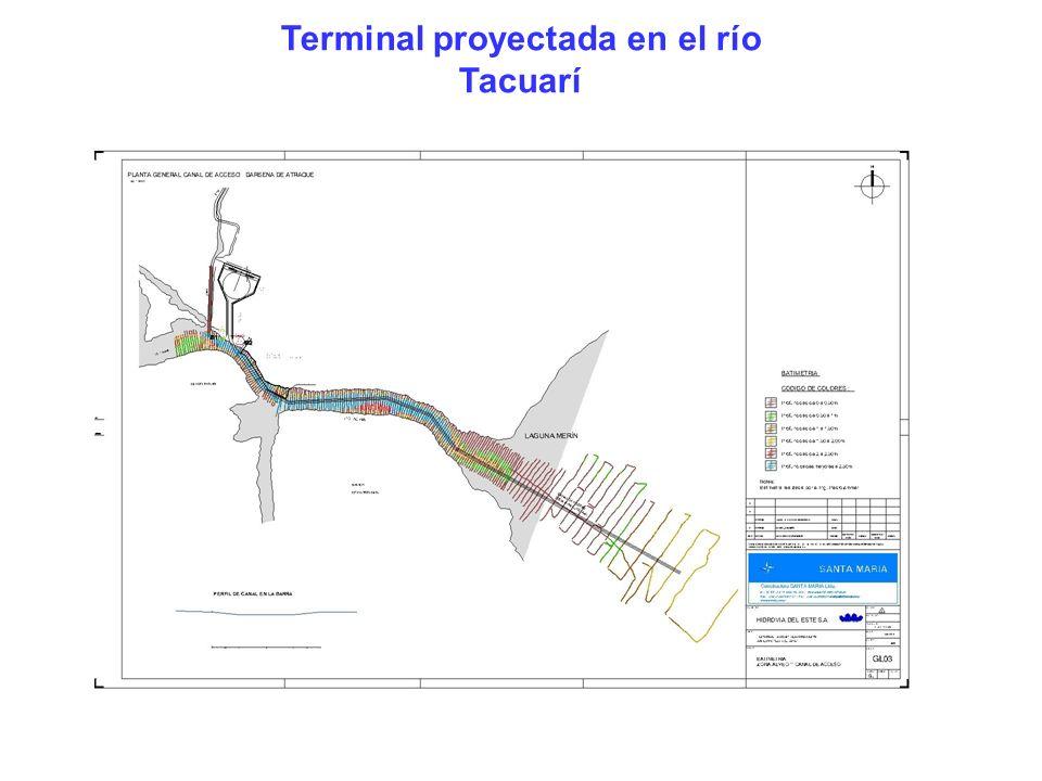 Terminal proyectada en el río Tacuarí