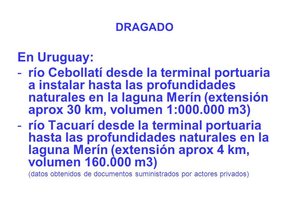 DRAGADO En Uruguay: