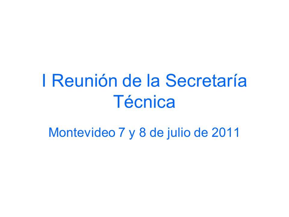 I Reunión de la Secretaría Técnica