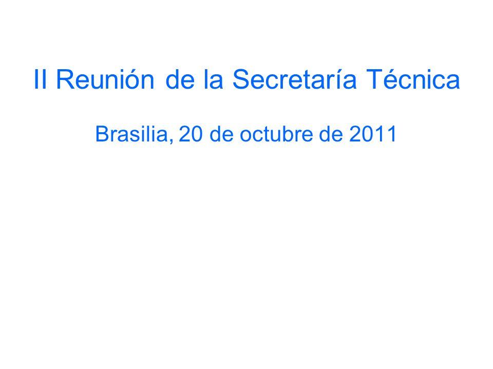 II Reunión de la Secretaría Técnica