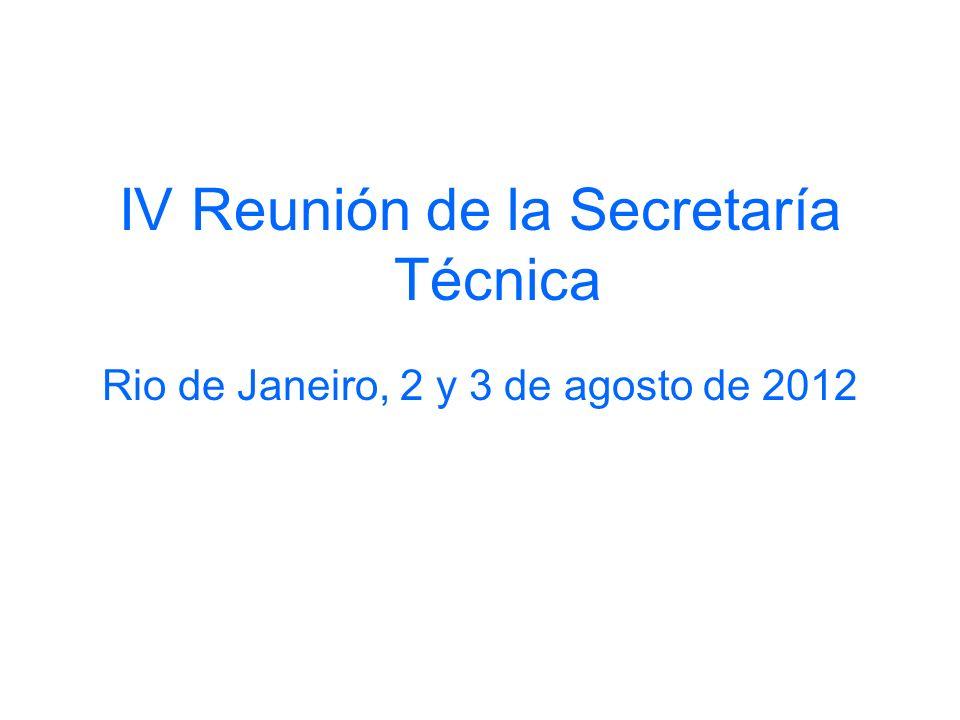 IV Reunión de la Secretaría Técnica
