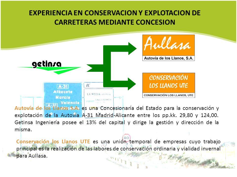 EXPERIENCIA EN CONSERVACION Y EXPLOTACION DE CARRETERAS MEDIANTE CONCESION
