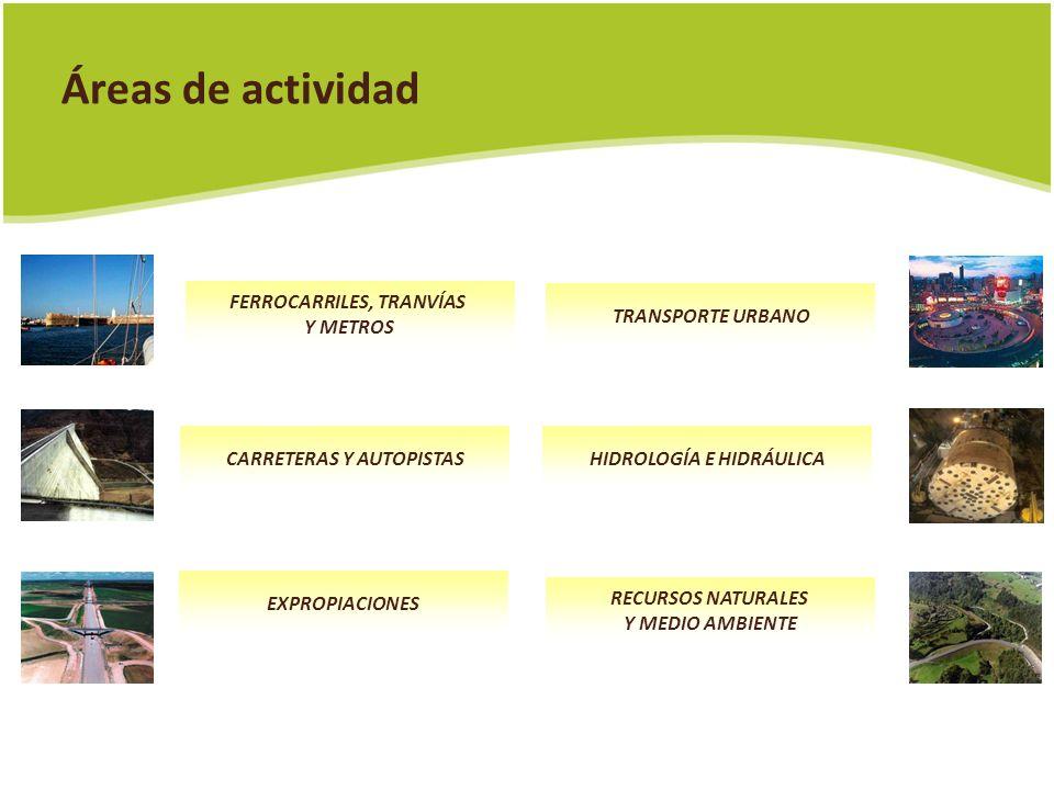 Áreas de actividad FERROCARRILES, TRANVÍAS Y METROS TRANSPORTE URBANO