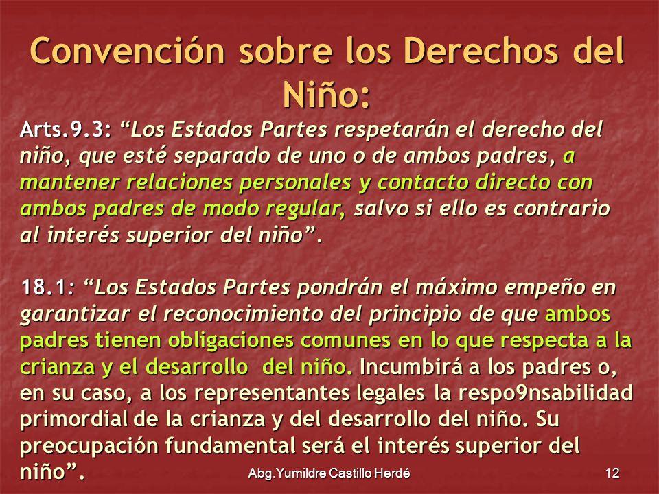 Convención sobre los Derechos del Niño: