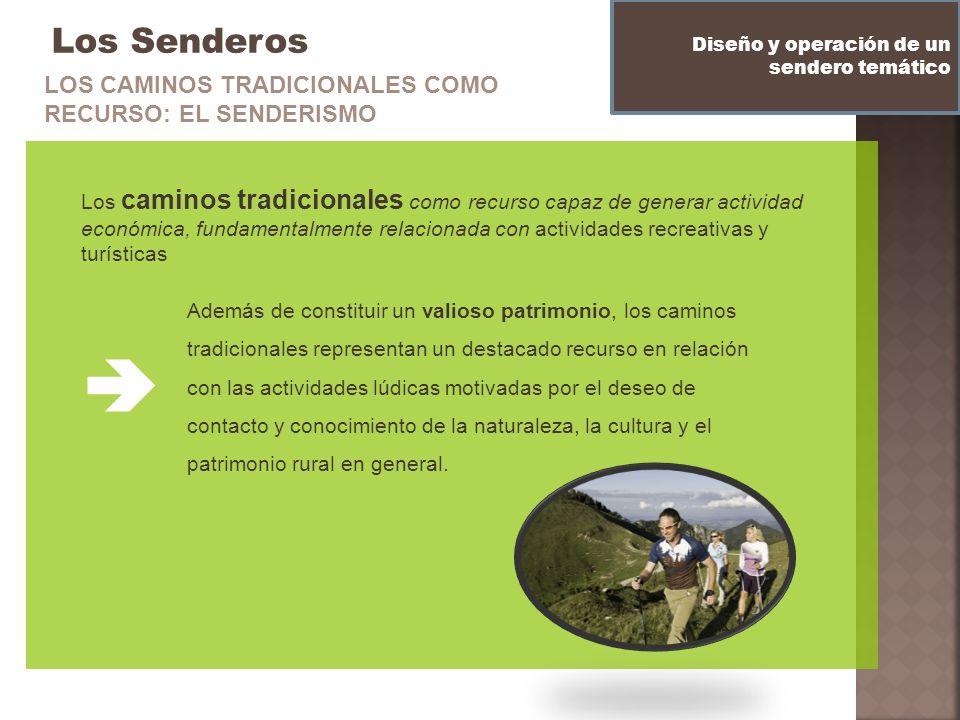  Los Senderos LOS CAMINOS TRADICIONALES COMO RECURSO: EL SENDERISMO