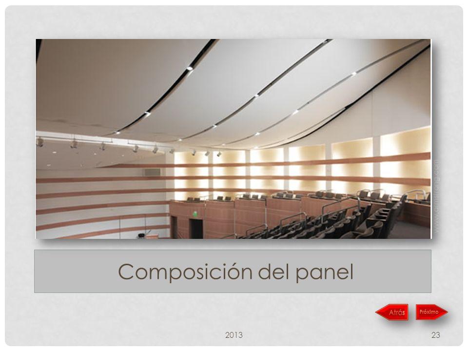 www,armstrong.com Composición del panel 2013