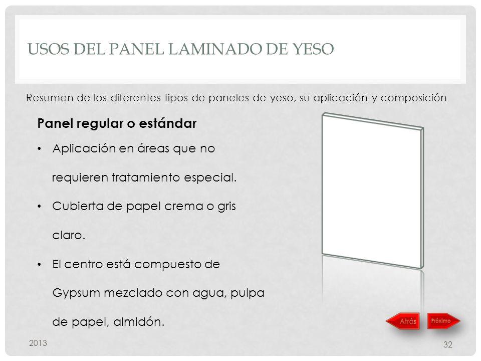 Usos del panel laminado de yeso